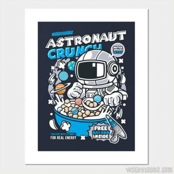 Astronaut Crunch Cereal Wall Art