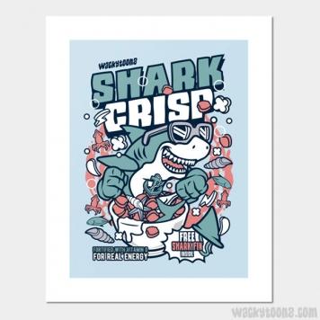 Shark Crisp Cereal Wall Art