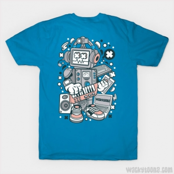 Techno Music Robot T-Shirt