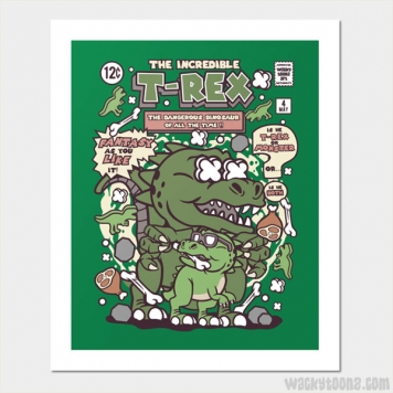 The Incredible T-Rex Wall Art