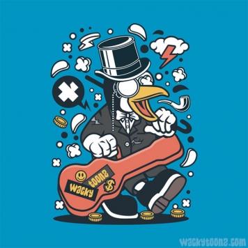 Traveling Penguin Musician T-Shirt